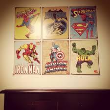 kids bedroom superhero posters batman superman spider man hulk