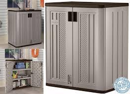 Garden Tool Storage Cabinets Outdoor Storage Cabinet With Starplast Plastic Garden Utility