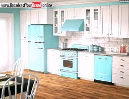 küche retro große weiß blaue retro küche