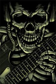 skull guitar check out these awesome custom skull designs