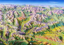 Colorado Ski Map by Ouray Colorado James Niehues Map Artist Ski Maps Regional