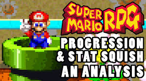 Armchair Analysis Super Mario Rpg Progression U0026 Stat Squish Analysis Youtube