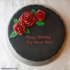 unique happy birthday cake images with name