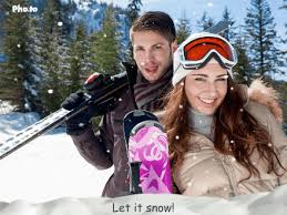 a christmas snow animated falling snow photo effect to make a christmas card