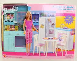 mattel barbie doll 2002 living in style barbie kitchen playset