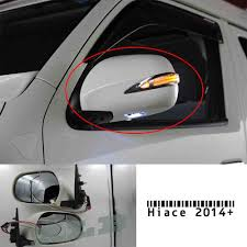 toyota hiace 2014 chrome electric rearview side mirror with led lights for toyota