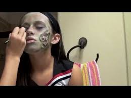 Girls Cheerleader Halloween Costume Zombie Cheerleader Halloween Makeup