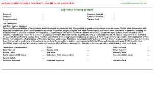 medical assistant employment contract