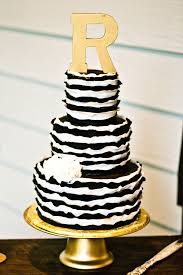 black and white wedding cakes the monogram atop this bold black and white beauty ideas
