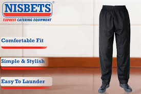 Nisbets by Unisex Mens Women Whites Vegas Chefs Trousers Cooking Kitchen Cook