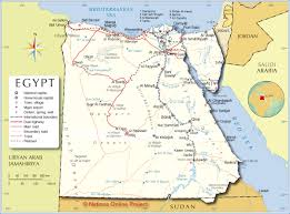 Map Of Mediterranean Countries Political Map Of Egypt Nations Online Project