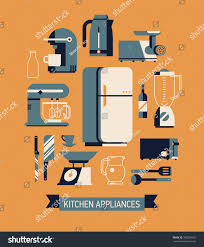 kitchen tools and equipment cool flat design on essential kitchen stock vector 308256692