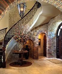 Entryway Accent Table Mediterranean Entryway With Chandelier U0026 Interior Brick Zillow
