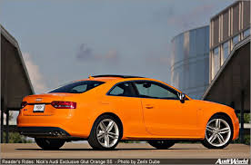 audi orange color reader s rides nick s 2011 audi exclusive glut orange s5 audiworld