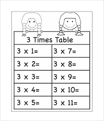 Times Tables Worksheet 4 Times Tables Worksheets Free Brokeasshome Com