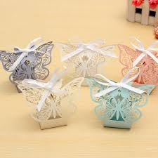 10pcs paper butterfly laser cut candy boxes for wedding party