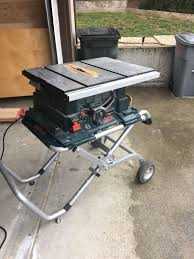 bosch gravity rise table saw stand bosch gravity rise folding table saw stand no saw tools