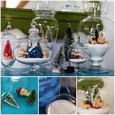 diy sparkly snow tree jar decoration