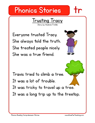 this reading comprehension worksheet trusting tracy is for