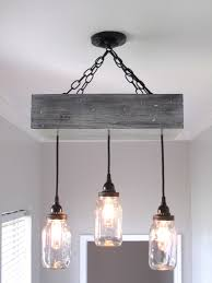 Rustic Ceiling Lights Jar Box Chandelier Ceiling Light By Outofthewdworkdesign