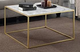 marble gold coffee table convenience concepts gold coast faux marble coffee table amazon ca