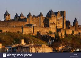 Carcassonne Towers And Ramparts Of La Cite Old City Xiii Century Of