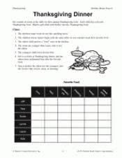 thanksgiving dinner printable math activity grades 3 4 u0026 5
