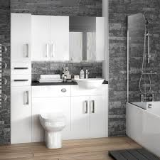 white gloss modern fitted bathroom furniture 8 contemporary