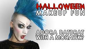 halloween makeup fun adora batbrat with a mohawk youtube