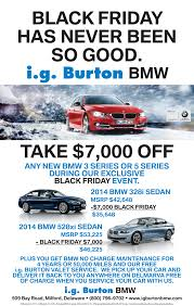 bmw no charge maintenance i g burton bmw black friday event call or stop in to with
