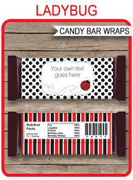 ladybug hershey candy bar wrappers personalized candy bars