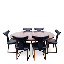 Dining Table And Six Chairs Sculptural Italian Modern Rosewood Dining Table Ergonomic