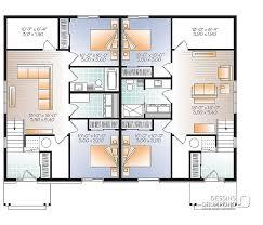 plan maison rdc 3 chambres plan de maison multi logements lucinda 2 w3049 v1 dessins drummond