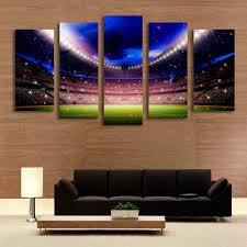 paintings for living room 5 panel football playground world cup picture painting for living