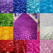 2016 new 3d flower fabric wedding table carpet backdrop cloth