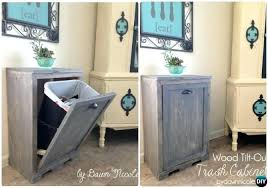 built in trash can cabinet built in trash can cabinet how to build a trash bin with a butcher