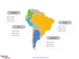 Map Of Colombia South America by Free South America Editable Map Free Powerpoint Templates
