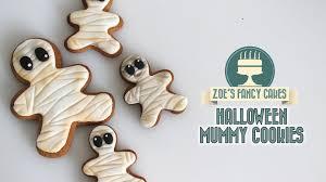 halloween mummy gingerbread cookies youtube