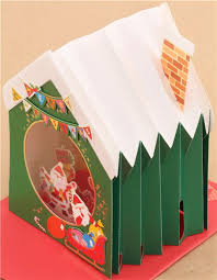 pop up christmas cards winter house fireplace socks christmas letter 3d pop up card