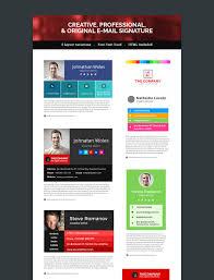 12 professional email signature templates with unique designs