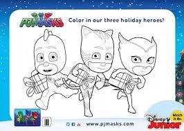 super pj masks holiday season activity coloring pages