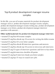 Real Estate Developer Resume Sample by Top8productdevelopmentmanagerresumesamples 150426010529 Conversion Gate02 Thumbnail 4 Jpg Cb U003d1430028379
