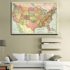 United States Map Poster by Online Get Cheap United States Map Poster Aliexpress Com