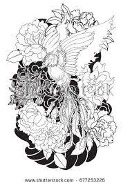 hand drawn dragon tattoo coloring book stock vector 663449044