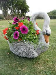 swan planter garden ornament ebay