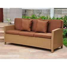 wicker outdoor sofa serta laguna wicker patio sofa hayneedle