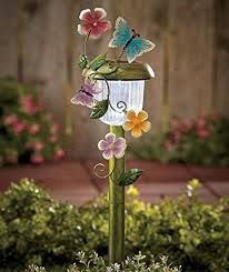 solar powered butterfly stake whimsical garden yard lawn