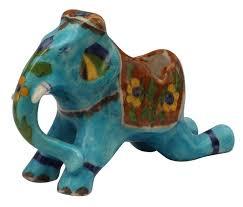 wholesale 6 u201d elephant shaped creative ceramic ashtray in brown