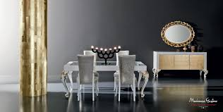 minimal dining room with gold leaf applications dining room