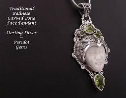 necklace pendants australia images Necklace pendant unique bone face carving peridot silver gif